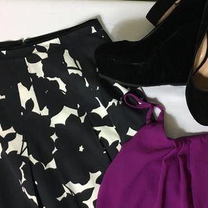 Banana Republic Silk & Cotton Petite Women's Skirt
